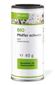 Probio: Pfeffer schwarz ganz 40 g Dose (BIO)