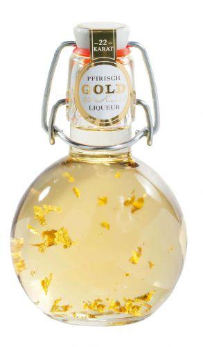 Gold-Pfirsich Likör -Kugel-
