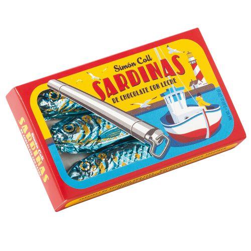 Sardinen aus Milchschokolade