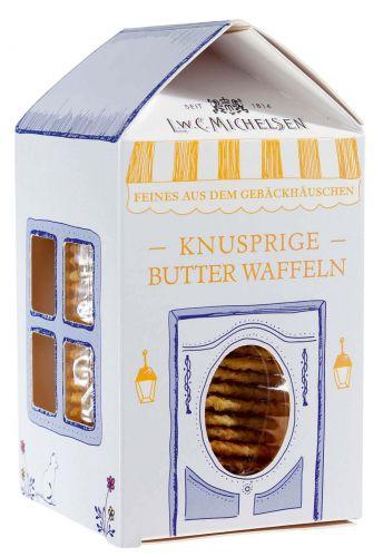 Gebäckhäuschen mit Butterwaffeln