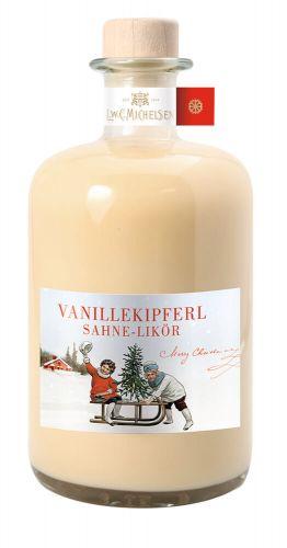 Vanillekipferl Sahne-Likör in Apotheker-Flasche