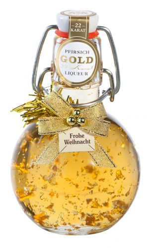 Gold-Pfirsich Weihnachten -Kugel-