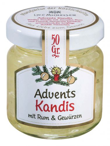 Gold-Weiß Adventskandis -mini-