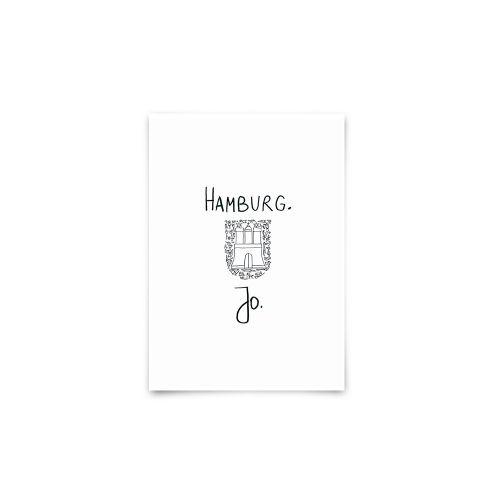 Postkarte - Hamburg.jo.