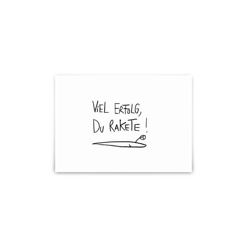 Postkarte - Erfolgsrakete