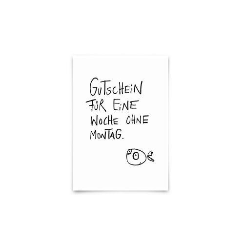Postkarte - Montagsgutschein