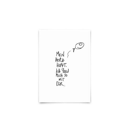 Postkarte - Herzhüpfer