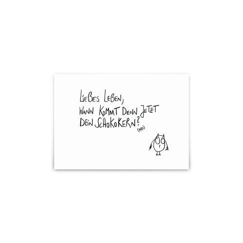 Postkarte - Schokokern Eule