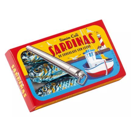 Feine Sardinen aus Vollmilchschokolade