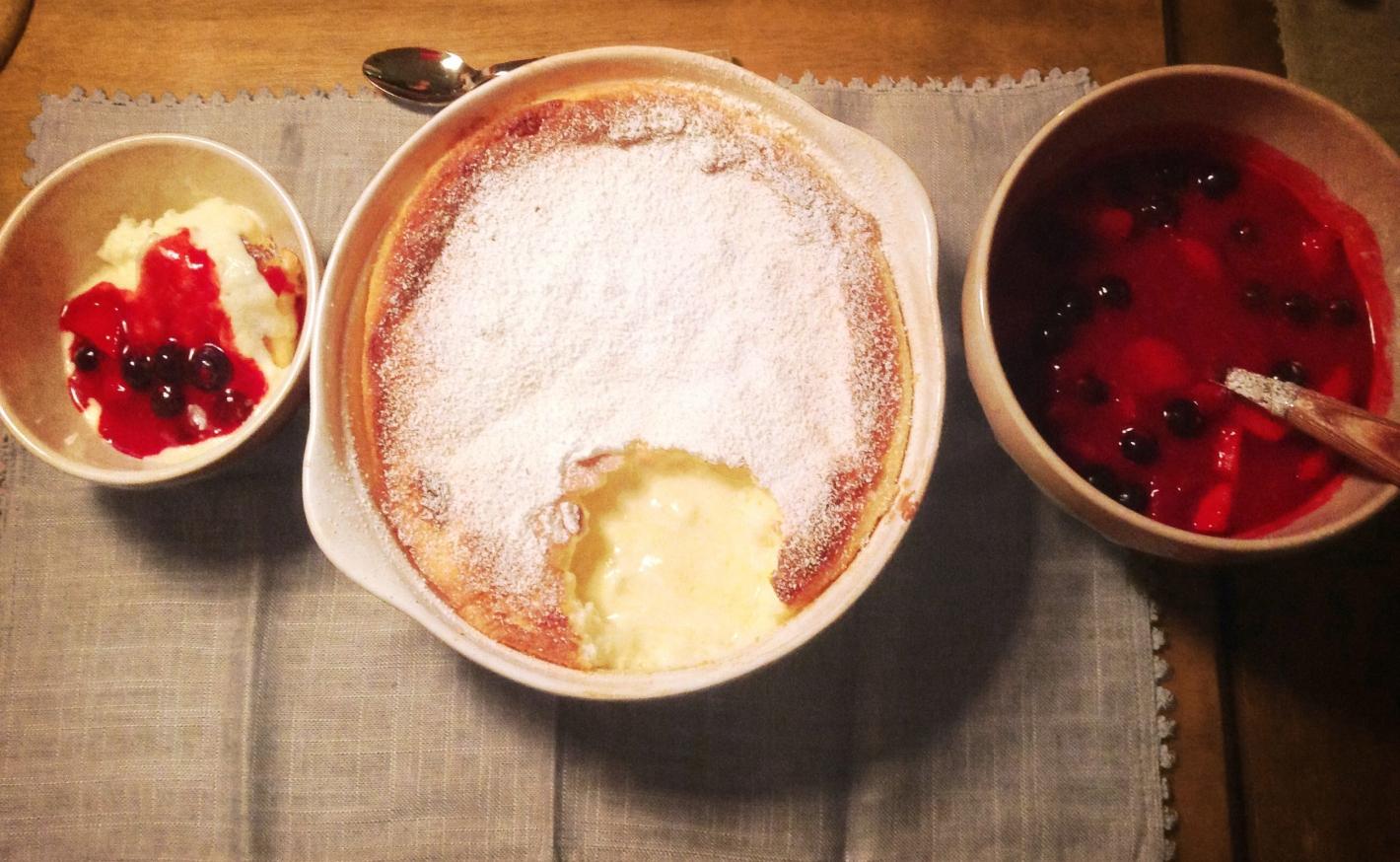 Cheesecake-Creme mit Roter Grütze