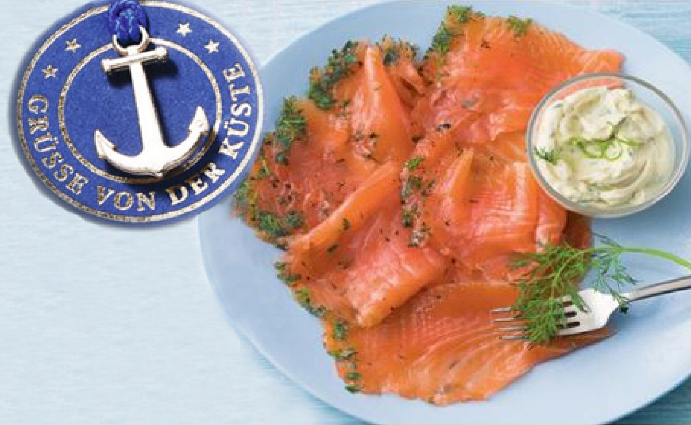 Graved Lachs mit Dill-Senf-Soße