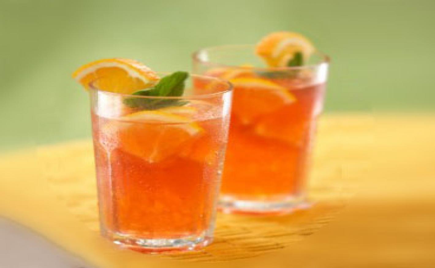 Orangen-Minz-Bowle