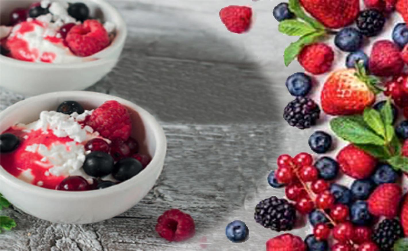 Milchreis-Rote Grütze Eis