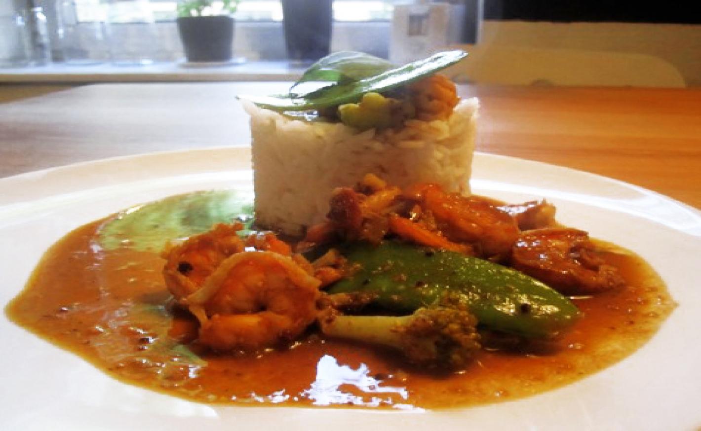 Thai Curry mit Garnelen